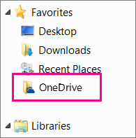 OneDrive folder in Windows Explorer