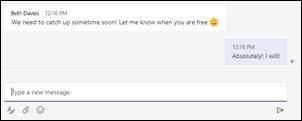 Teams desktop screenshot of a read receipt notification.