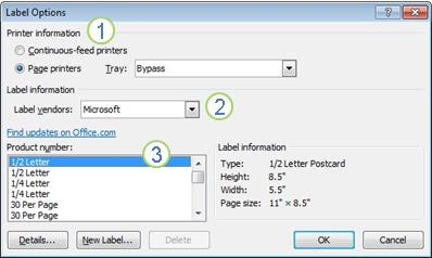 Exceptional Label Options Dialog Box Intended Format Labels In Word