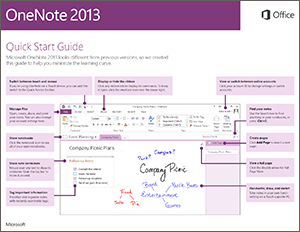 onenote 2013 quick start guide onenote. Black Bedroom Furniture Sets. Home Design Ideas