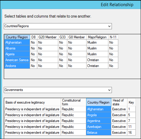 Power Pivot - Enhanced Edit Relationship dialog