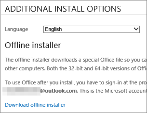 Download the offline installer