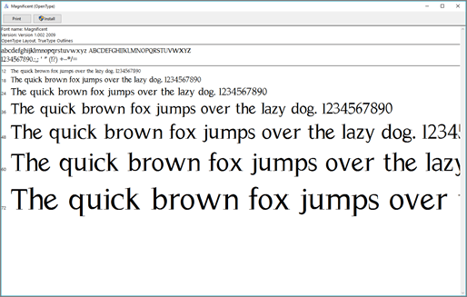The Windows Font Previewer lets you view and install fonts on your Windows computer
