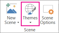 3D Maps Themes option