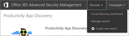 In the ASM portal, go to Discover > Cloud Discovery dashboard