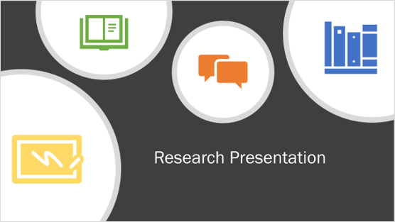 Image of a research presentation template
