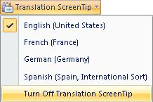 Turn Off Translation ScreenTip