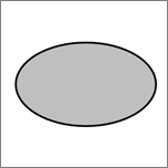 Shows an ellipse shape.