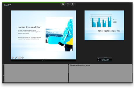 Presentation in presenter view