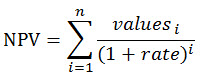 NPV equation