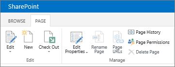 SharePoint 2013 Ribbon in upper left corner of screen