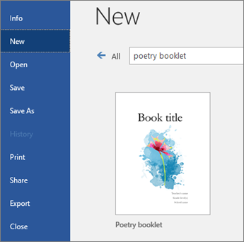 "Search templates for ""poetry booklet"""