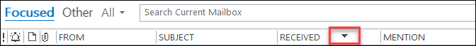 Outlook Field header