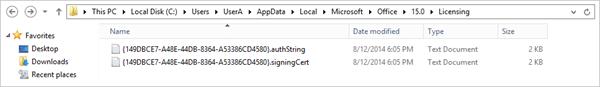 Verify activation folder