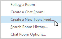 Create a new topic feed