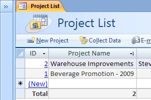 Use the Projects Access database template - Access