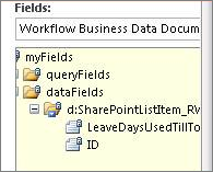 Select data fields list