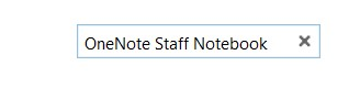 Choose OneNote Staff Notebook.