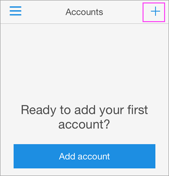 Tap the + sign int the Azure Authenticator app.