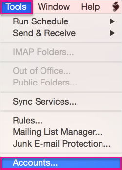 how to delete outlook account on mac