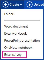 Create Excel survey