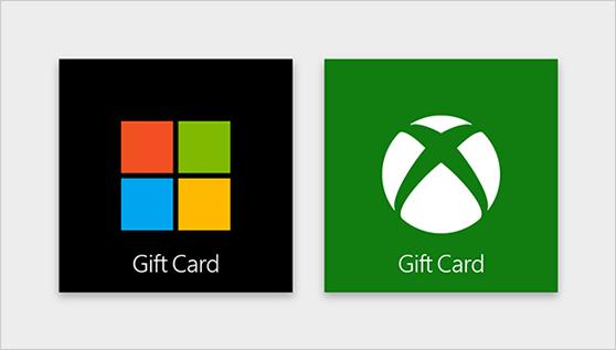 microsoft xbox online gift card