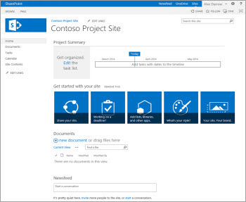 project site template - Sharepoint Design Ideas