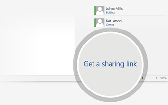 Get a sharing link is magnified