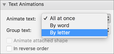 Select the By Letter option