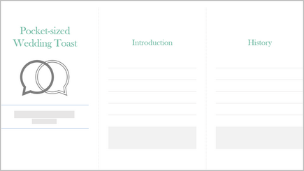 Image of a wedding toast planner