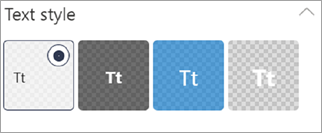 Text styles selector
