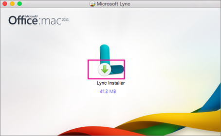 Choose the Lync Installer to start the installer for the update.