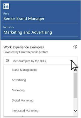 Filter Examples By Top Skills: Click The Drop Down  Linkedin Resume