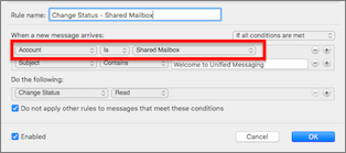 Add rules to a shared mailbox - Office Support