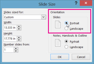Change the page orientation in powerpoint between landscape and click portrait toneelgroepblik Gallery