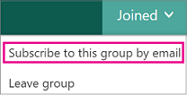 Screenshot of subscribe to this group by email option