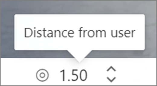 Distance from user UI