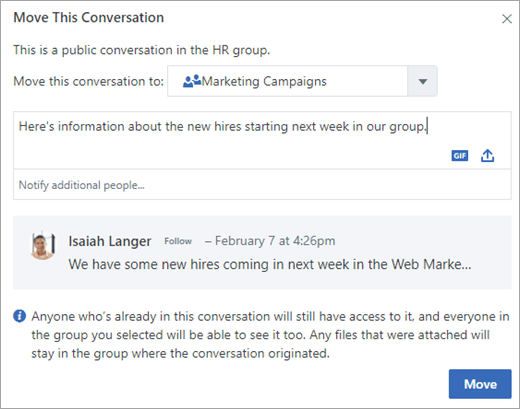 Move this conversation page
