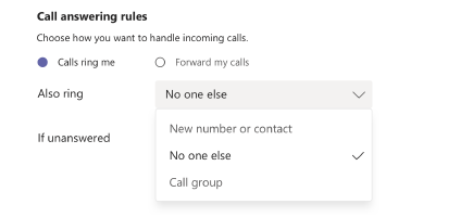 Call forwarding, call groups, and simultaneous ring in Teams