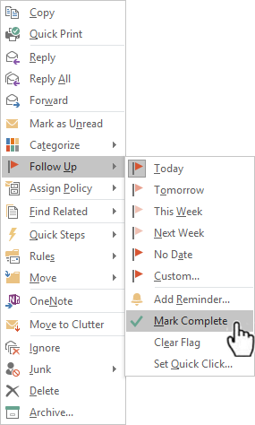 Video: Set categories, flags, reminders, or colors - Outlook