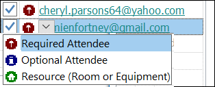 You can mark an attendee as optional.