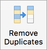 Remove Duplicates button