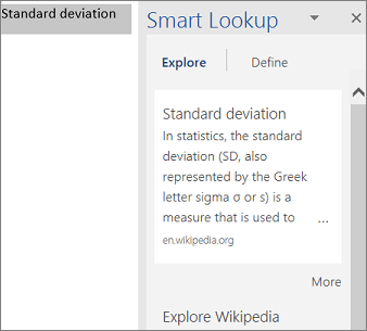 Showing results of a Smart Lookup in PowerPoint using Insigts