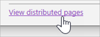View distribute pages button