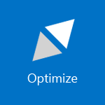 Screenshot of a tile that shows the word Optimize