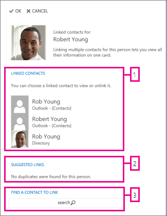 linked contacts page