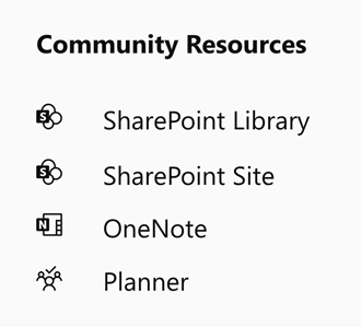 Yammer community resources