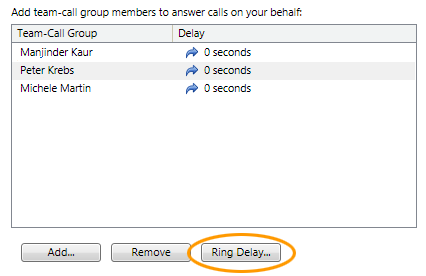 Set Ring Delay