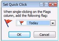 Quick Click Flag dialog box