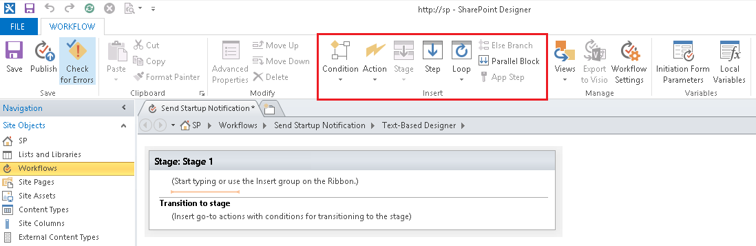 Send e-mail in a workflow - SharePoint